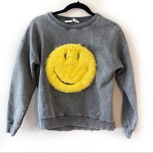 Zara Girls Smiley Sweatshirt